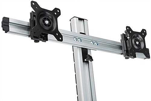 Height Adjustable Dual Monitor Desktop Mount