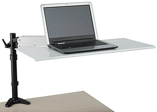 Ergonomic Laptop Desk Mount with Clamp Base