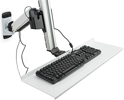 Dual LCD Monitor Wall Stand with Cable Management