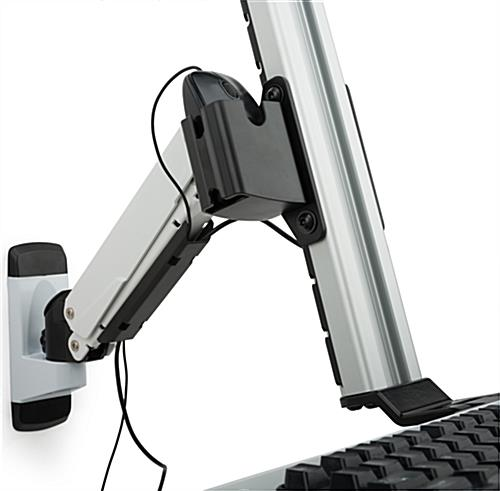Dual LCD Monitor Wall Stand with Mouse Holder