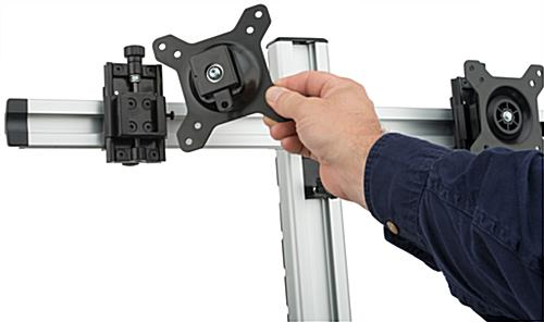 Dual LCD Monitor Wall Stand with Quick Release Brackets