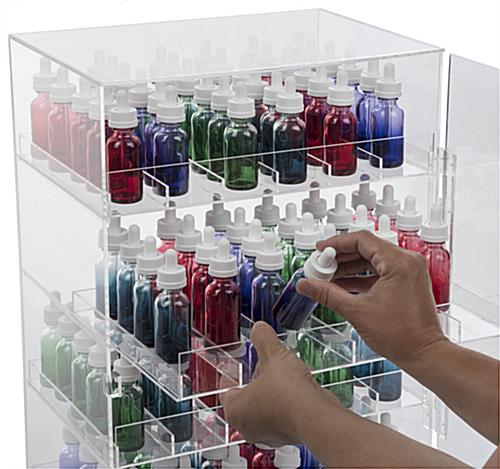 Vaporizer Locking Display Case with 6 Rows Per Drawer