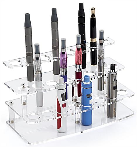 "24-Pen Acrylic Atomizer Stand with 1"" Vape Slots"