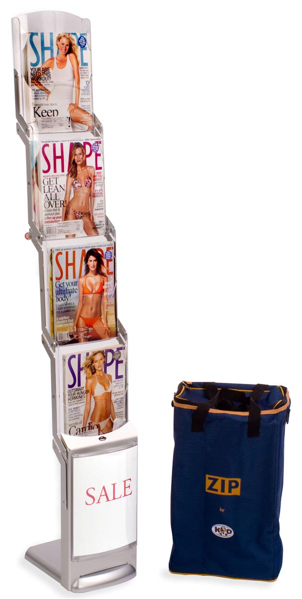 Displays2go 4-Pocket Portable Literature Stand for 8.5 x ...