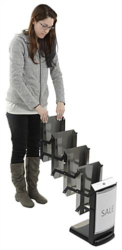 Portable Metal Magazine Rack with 4 Pockets