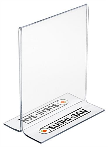 Acrylic Menu Card Holder with Custom UV Printing