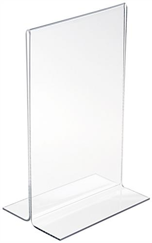 5 5 x 8 5 clear sign holder plexiglass frosted edges