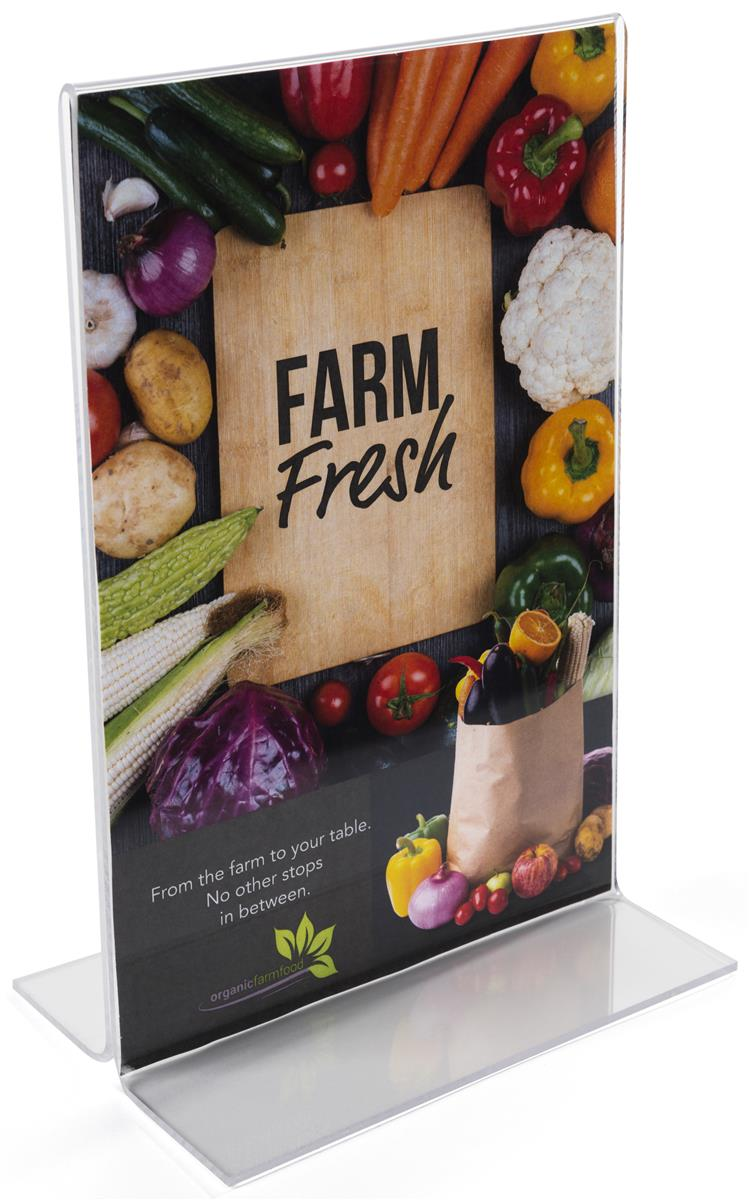 5 5 Quot X 8 5 Quot Clear Sign Holder Plexiglass Frosted Edges