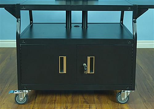 Flat Screen Cart with Large Top Shelf