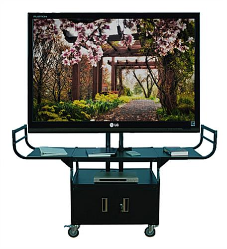 Black Flat Screen Cart