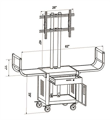 Modern Plasma TV Cart