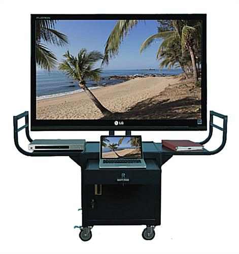 Plasma TV Cart with 2 Side Shelves
