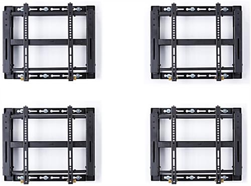 Quad Video Wall Mount, Black Finish
