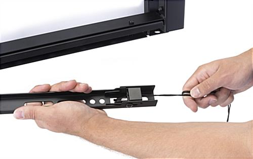 Quad Video Wall Mount, Bracket Release Cord
