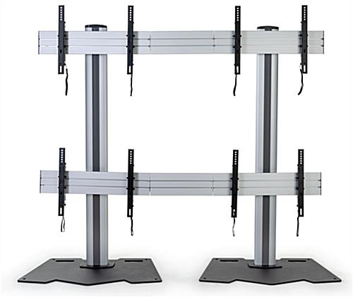 2x2 video wall mount with four mounting brackets