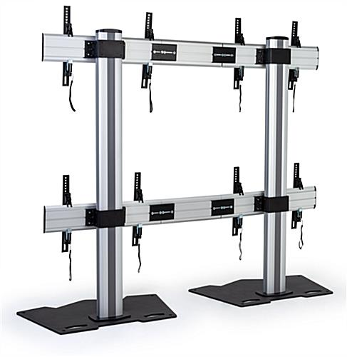 2x2 video wall mount with 88 lbs. maximum weight limit per bracket