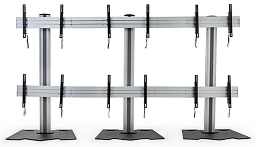 3x2 multi monitor floor stand for 6 monitors