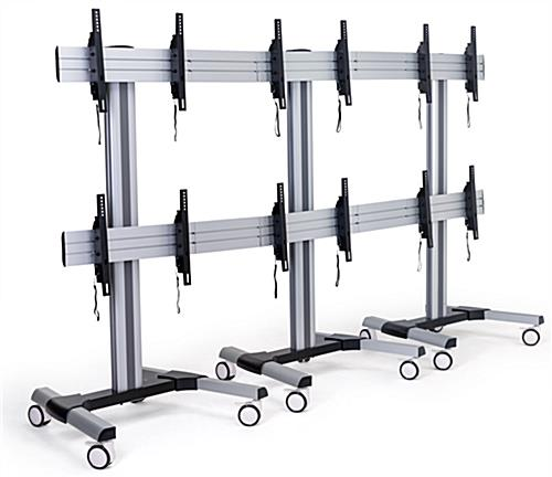 lcd video wall cart with steel construction