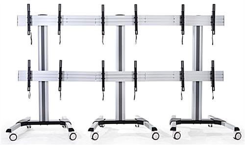 6 screen lcd video wall cart