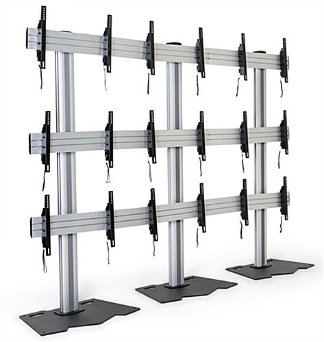 "3x3 video wall mount stand for (9) 45"" – 55"" screens"