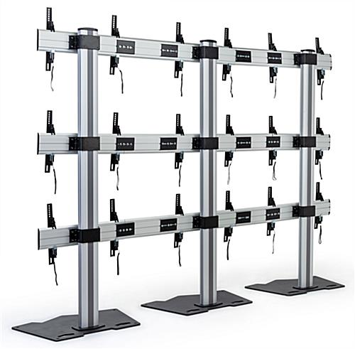 3x3 video wall mount stand with lateral adjustment