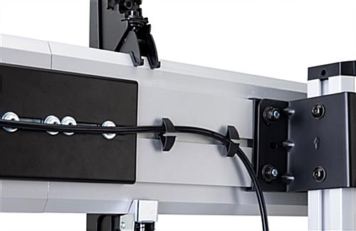 3x3 video wall mount stand with height adjustability