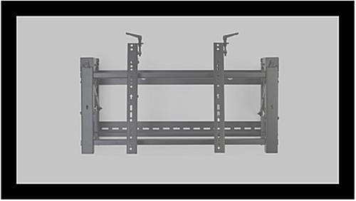 Video wall mounting bracket for flat screens