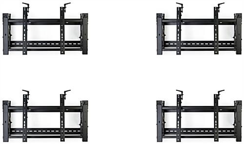 Video wall mounting bracket 2x2 configuration with lateral shift