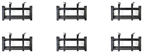 Video wall display 3x2 mounting brackets with kickstand