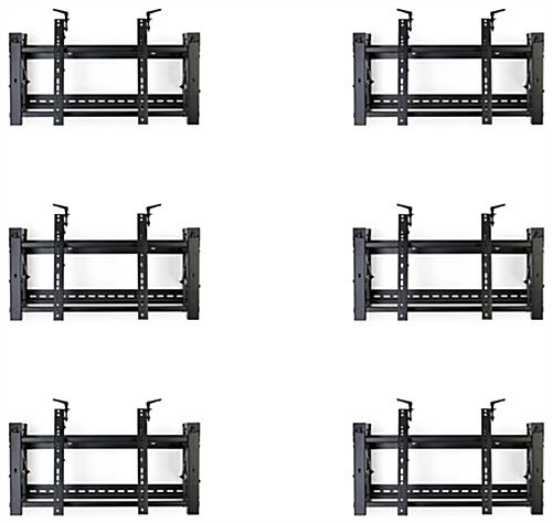 Video wall display 3x2 mounting brackets with pop-out extenstions