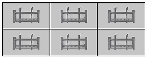 Steel video wall display 3x2 mounting brackets