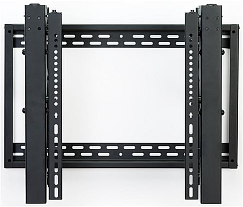 Video wall bracket with pop-out extension