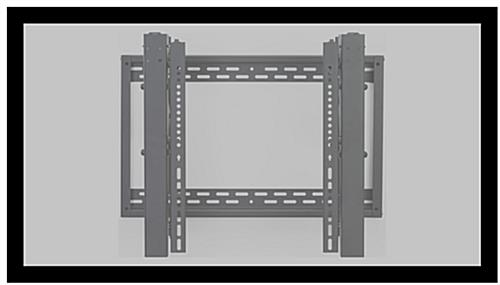 Video wall bracket for flat screens