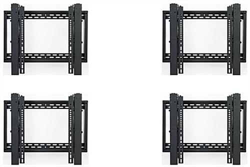 Video wall bracket 2x2 configuration with 4 mounts