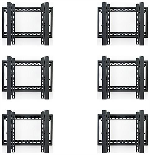 Video wall display 3x2 brackets with anti-theft protection