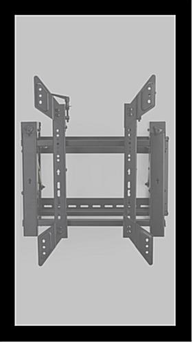 Video wall portrait bracket for vertically hanging TVs