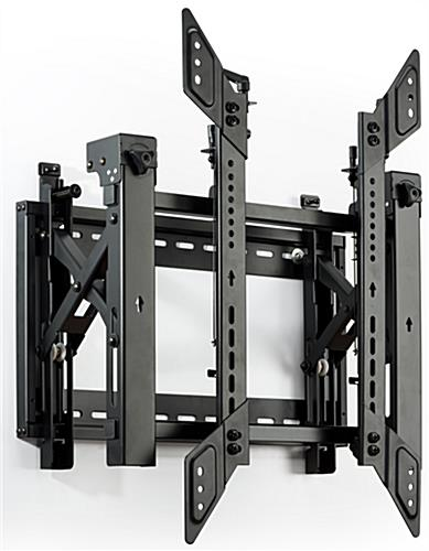 3x3 portrait mount modular video wall system with 9 VWM64POR brackets