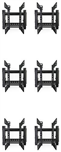 Tilting video wall display 3x2 portrait mounts