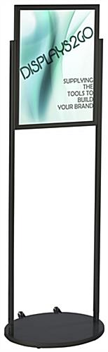 Black 18 x 24 Mobile Poster Stand, Wheeled