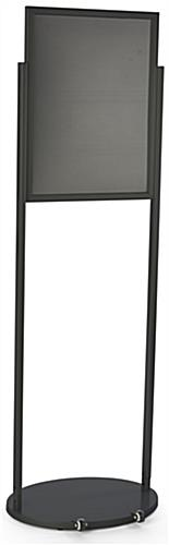 Freestanding Black 18 x 24 Mobile Poster Stand