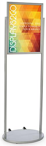 Silver 18 x 24 Mobile Poster Stand for Graphics