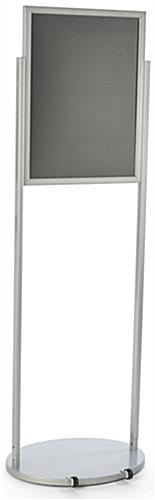 Silver 18 x 24 Mobile Poster Stand for Visuals
