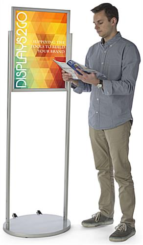 Floorstanding Silver 18 x 24 Mobile Poster Stand
