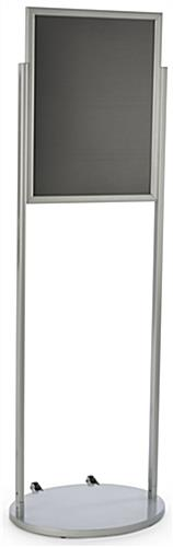 Silver 18 x 24 Mobile Poster Stand