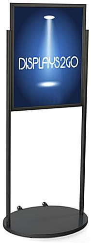 Black 22 x 28 Wheeled Poster Stand, Portable