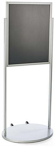 Silver 22 x 28 Wheeled Poster Stand