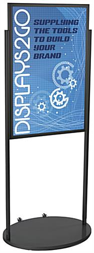 Black 24 x 36 Poster Stand with Wheels, Aluminum