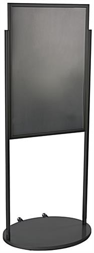 Black 24 x 36 Poster Stand with Wheels & Top Insert