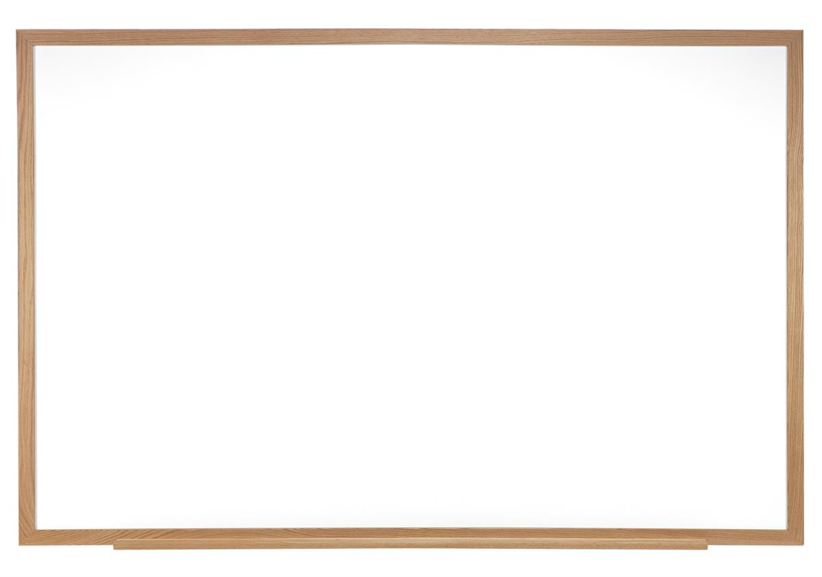 Ghent 72 x 48 Dry Erase Board, Acrylate with Oak Wood Fra...