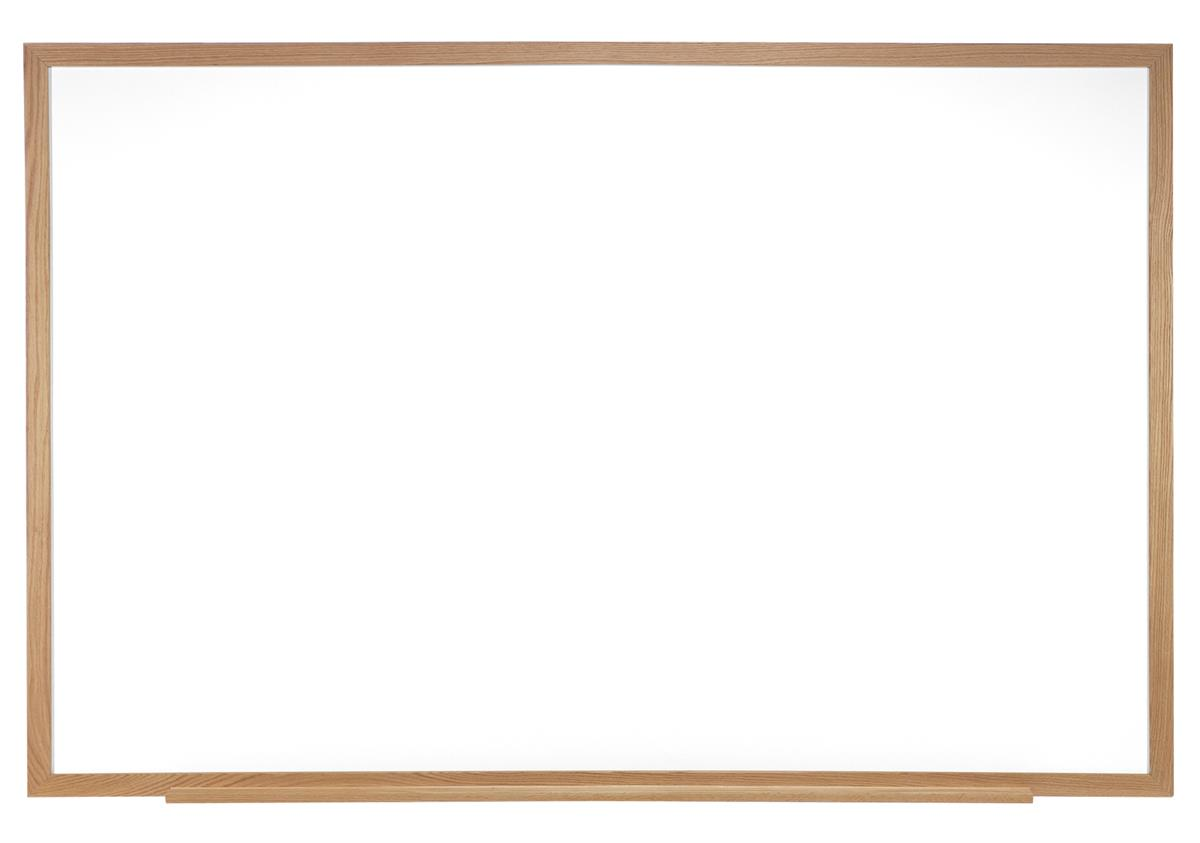 Ghent 96 x 48 Dry Erase Board, Acrylate with Oak Wood Fra...